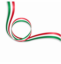Hungarian wavy flag background vector