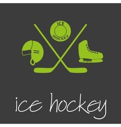 Ice hockey sport commercial design banner and vector