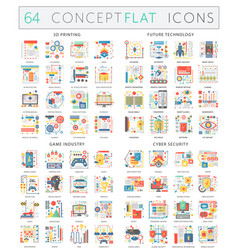 Infographics concept icons 3d printing future vector