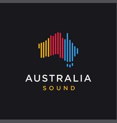 Island australia sound beat logo icon template vector