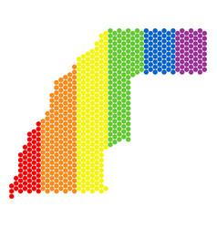 Lgbt spectrum dotted western sahara map vector