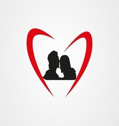 Love logo eps vector image