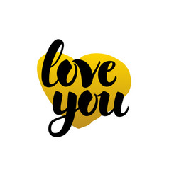 Love you handwritten lettering vector