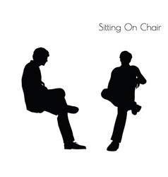 man in Sitting Pose On Chair pose vector image