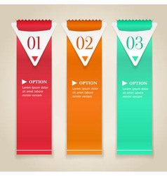 Modern numbered options banners vector