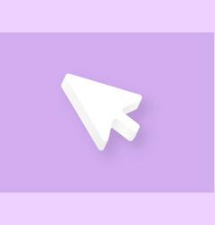 Mouse cursor white clay 3d white arrow vector