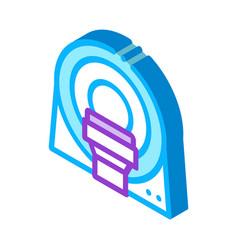Mri diagnosis apparatus isometric icon vector