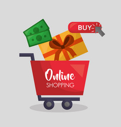 online shopping card vector image