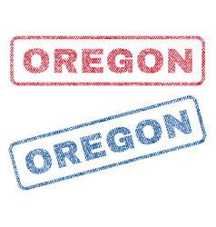 Oregon textile stamps vector