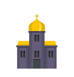 Orthodox church icon flat style vector