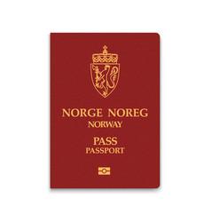 Passport norway vector