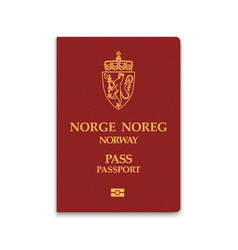Passport of norway vector