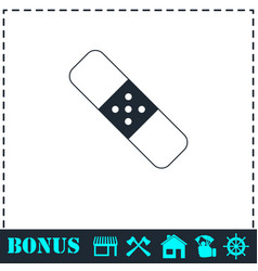 Plaster icon flat vector