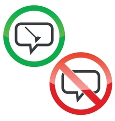 Plunger message permission signs vector