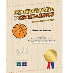 Portrait certificate of excellence template vector