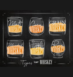 poster types whiskey color vector image