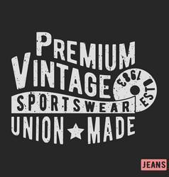 premium vintage stamp vector image