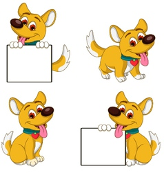 Puppy cartoon collection vector