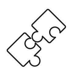 puzzles piece teamwork idea line style icon vector image