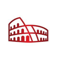 Red roma coloseum logo symbol icon vector