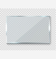 Reflecting glass banner gloss rectangle vector
