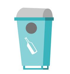 Rubbish bin for glass waste vector
