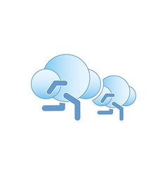 Running Clouds 380x400 vector image