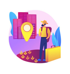 Rural migration abstract concept vector