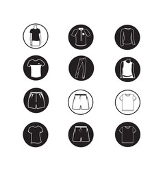 set of apparel shirt and t-shirt icon clothing vector image