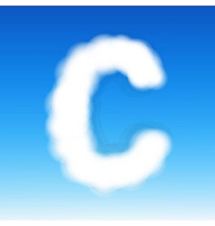 Sky Letter C vector image
