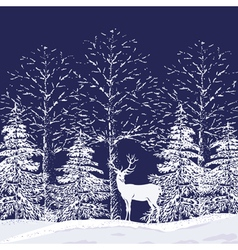 Snowy forest vector