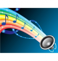 sound of rainbow vector image