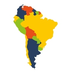 South american map isolated icon vector