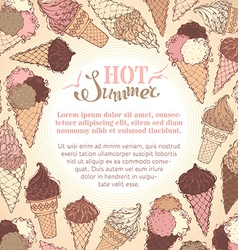 Summer ice-cream background vector
