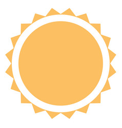 sun icon on white background flat style sun icon vector image