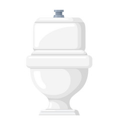 toilet bowl icon restroom and bath equipment vector image