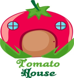 Tomato House vector image