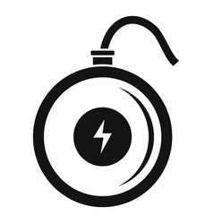 Turbo wireless charger icon simple style vector
