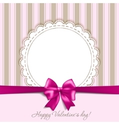 Valentines card with a bow vector