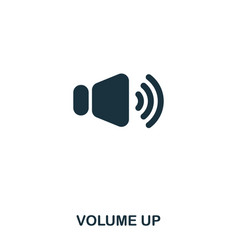 Volume up icon line style icon design ui vector