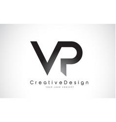 Vp v p letter logo design creative icon modern vector