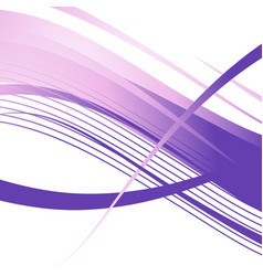 wavy violet lines abstract background vector image