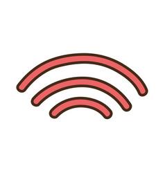 wifi digital symbol to digital information vector image