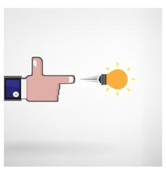 businessman hand shooting creative light bulb vector image vector image