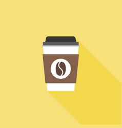 coffee paper or plastic glass icon vector image vector image
