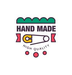 Handmade high quality logo template retro vector