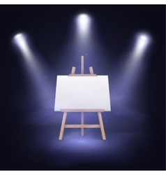 Illuminated stage with scenic lights and blank vector