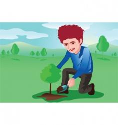 tree planter vector image vector image