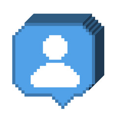 8 bit 3d subscriber icon vector image vector image