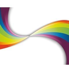 abstract rainbow fresh wave vector image